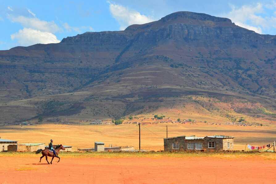 Walking through Emazizini Village in the heart of AmphiteatreIII
