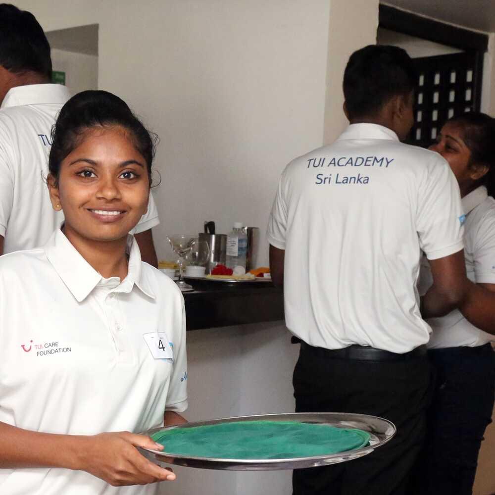 TCF_TUI Academy Sri Lanka_Girl with tray